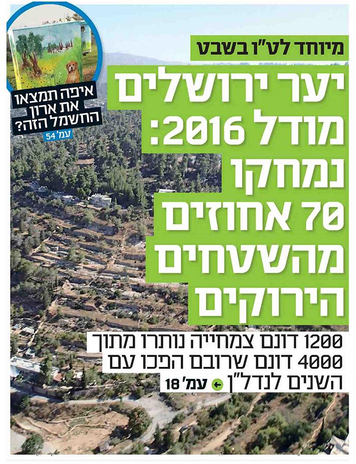 יער ירושלים מודל 2016 - שבועון ירושלים 22.1.16