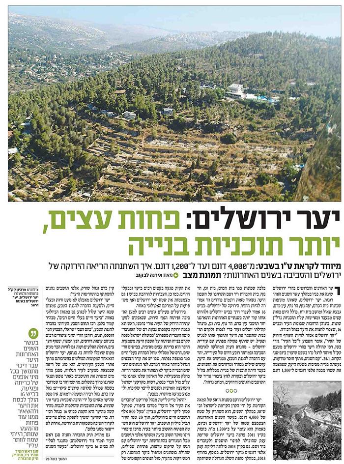 יער ירושלים מודל 2016 2 - שבועון ירושלים 22.1.16